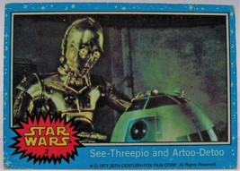 1977 Star Wars Series One Trading Card # 2 See-Threepio and Artoo-Detoo - $0.98