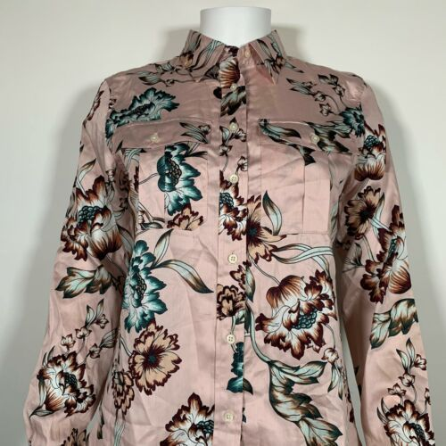 Lauren Ralph Lauren Top Blouse Floral Pink Cotton Button up Shirt Sz XL NEW NWT image 2