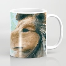 Dog 132 Collie Lassie Coffee Mug Cup 11oz or 15oz Made in USA art L.Dumas - $19.99+