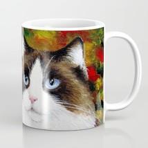 Cat 566 Fall Autumn Maple Leaf Coffee Mug Cup 11oz 15oz Made in USA art ... - $17.99+
