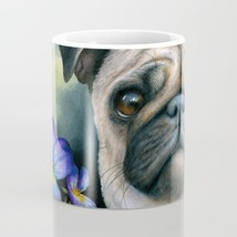 Dog 133 Pug Purple Flower Coffee Mug Cup 11oz or 15oz Made in USA art L.... - $19.99+