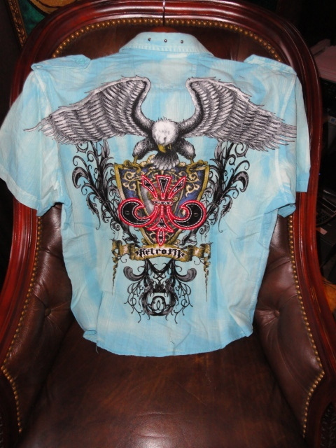 Primary image for  Medium size Short Sleeve Shirt Light Blue