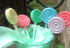 lollipop soaps, set of 6, bath, beauty, soap, kids soap, candy soap, gly... - $6.00