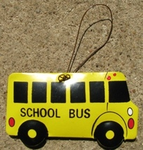 or365 School Bus Metal Christmas Ornament  - $1.95