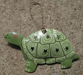 or356 Turtle Metal Christmas Ornament