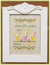 Make Lemonade cross stitch chart Country Cottage Needleworks - $7.20