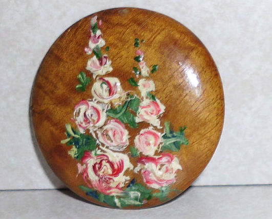 Original Design Hand Painted Mary E. Pitney Pin Brooch
