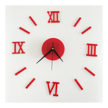 Roman Digit Acrylic Wall Clock Decoration    red acrylic - $20.99