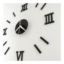 Roman Digit Acrylic Wall Clock Decoration     black acrylic - $20.99