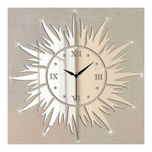 Wall Clock Living Room Decoration Mirror Sun - $27.99