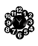 Digit Mirror Living Room DIY Quartz Wall Clock   black - $28.99