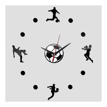 Acrylic Creative Wall Clock DIY Soccer - $22.99