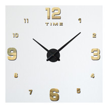 Acrylic Wall Clock DIY Digit Mirror Living Room   light golden - $31.99