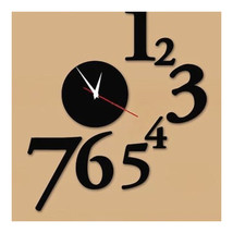 Acrylic Mirror Wall Clock Digit Sticking - $22.99