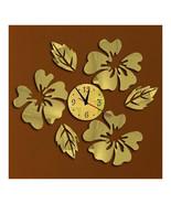 Decoration Flos Hibisci Wall Clock Creative   golden - $22.99