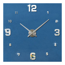 Acrylic Wall Clock DIY Digit Mirror Living Room   silver - $31.99