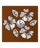 Decoration Flos Hibisci Wall Clock Creative   silver - $22.99