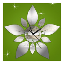 Acrylic Home Sticking Wall Clock Five-pointed Star Flower - $21.99