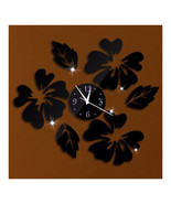 Decoration Flos Hibisci Wall Clock Creative   black - $22.99