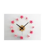 Beautiful Flower Romantic Rose DIY Wall Clock DIY Clock Countryside Simple - $22.99