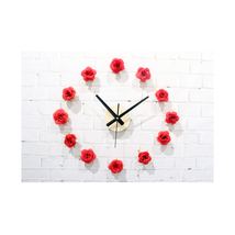 Beautiful Flower Romantic Rose DIY Wall Clock DIY Clock Countryside Simple - $22.99