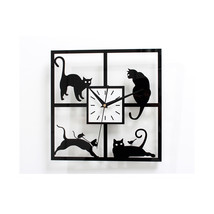 Interesting Cute Cat Clock Fashionable Creative Small Cat Wall Clock - $39.99