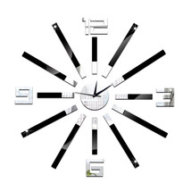 Creative Home Decoration Silent DIY Mirror Wall Clock - $20.99