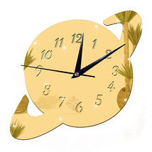 Mirror DIY Creative Wall Clock Acrylic Sticking Decoration    golden - $20.99