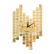 Living Room Decoration Wall Clock Mosaik Creative DIY   golden - $27.99