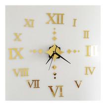 Roman Digit Wall Clock Decoration Sticking    golden - $20.99