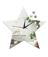 Living Room Silent Wall Clock Five-pointed Star Sticking    silver:30*30cm - $20.99
