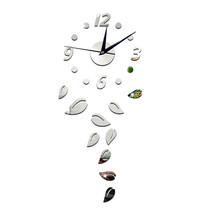 Acrylic Creative Home Decoration Sticking Wall Clock   silver - $20.99
