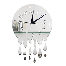 Acrylic Wall Clock Mirror Decoration   silver with scale - $20.99