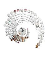 Circle Mirror Wall Clock Living Room   silver - $21.99