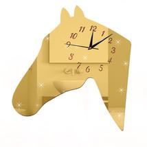 Living Room Creative DIY Silent Quartz Horse    golden - $27.99