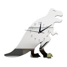 Creative DIY Kid Room Decoration Wall Clock Cartoon   silver - $21.99