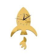 Creative DIY Kid Room Decoration Wall Clock Sticking   golden - $21.99