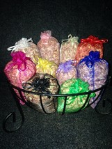 10 Aromatic//Fragrant/Red Cedar/Sachets/Organza Bags/Rustic/Wedding Favo... - $24.99