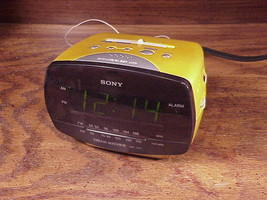 Sony Dream Machine Gold Tone Alarm Clock AM FM Radio, used, tested  - $9.95