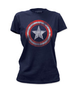 NEW Captain America Vintage Faded Look Logo Shield Emblem Marvel T-shirt... - £12.42 GBP+