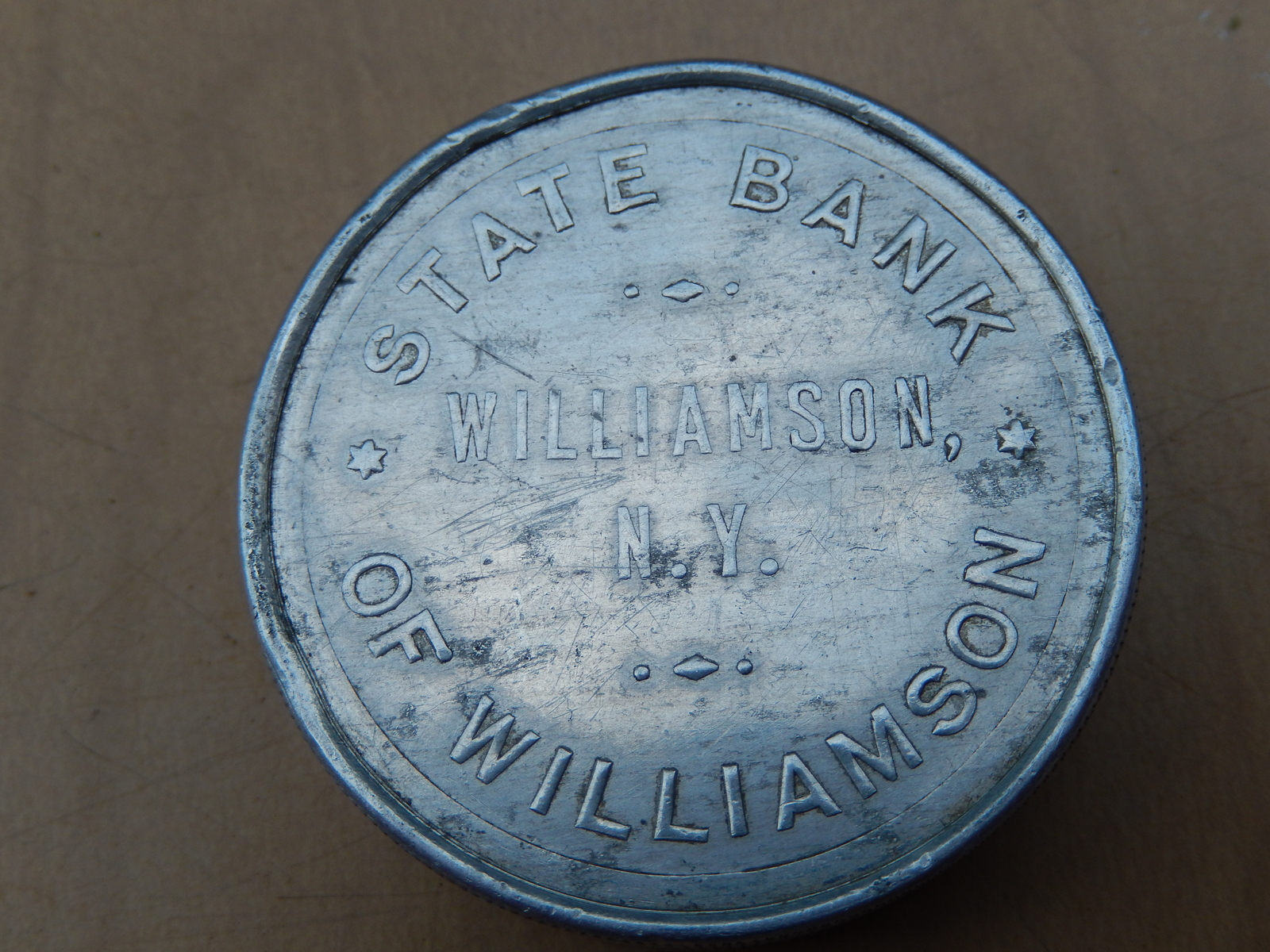 Rare State Bank of Williamson, NY Paperweight Circa 1905-1944