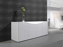 J&M Zao Premium Natural Lacquer Buffet White Goloss Contemporary Style