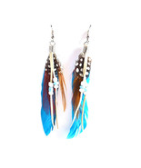 fashion Boximiya multicolor meters living feather earrings wholesale   S... - $8.99