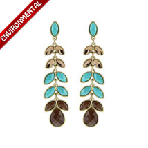 long drops texture touching earrings resin dinner necessary - $11.99