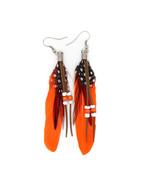 fashion Boximiya multicolor meters living feather earrings wholesale   O... - $8.99