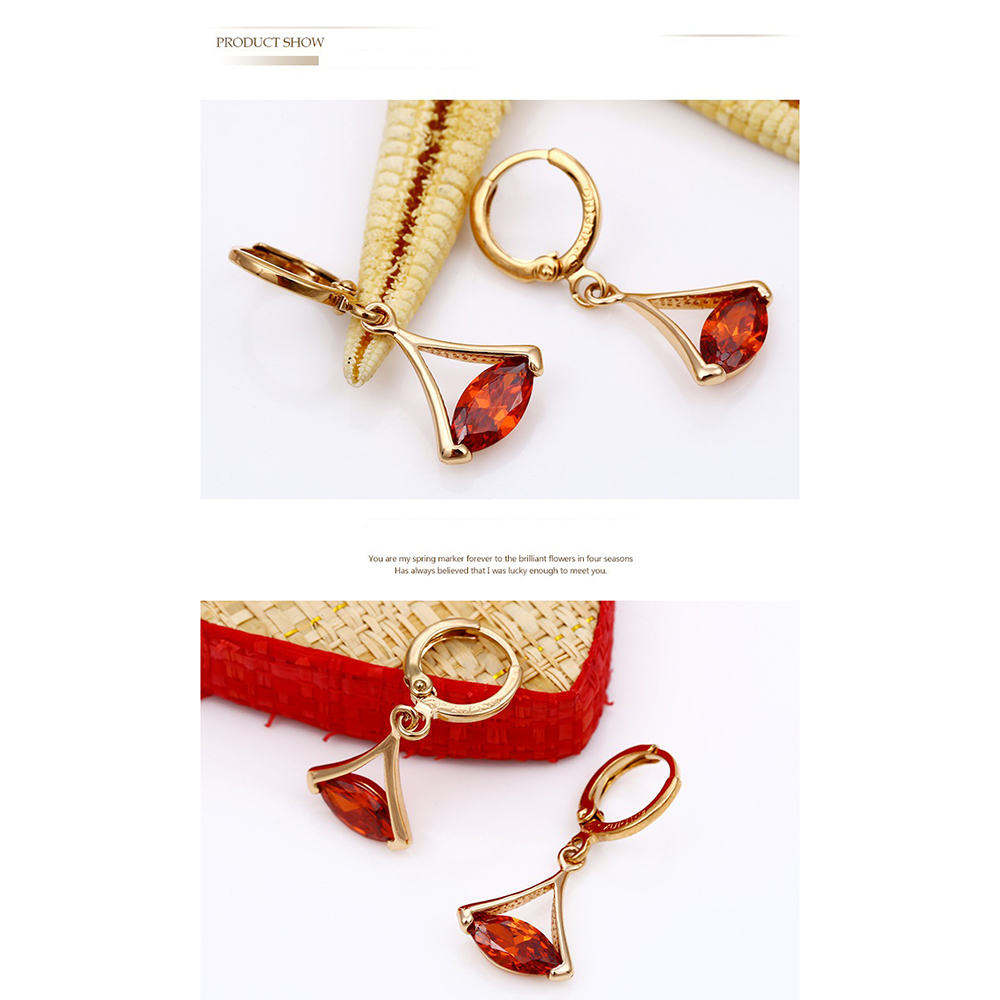 Creative Europe gilded earrings Xuping multicolored jewelry wholesale jewelry