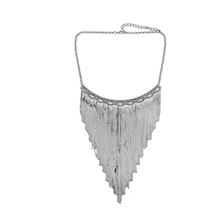 Necklace Classic Metal Tassel Necklace Rock and Roll Punk Performance Or... - €18,80 EUR
