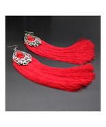 Long Earrings Tassel Fringe Vintage Bridal Wedding Stylish   red - $12.99