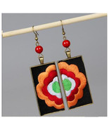 Exaggerated Stylish DIY Flower Vintage Embroidery Earring Long Earring O... - $14.99