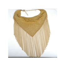 Golden Clavicle Necklace High-end Decent Fashionable Tassel Necklace - $26.64 CAD